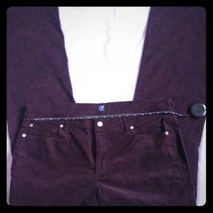 Gap NWOT corduroy pants in maroon size 34r